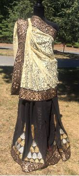 Picture of Black and Beige Saree