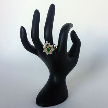 Picture of Green stone ring